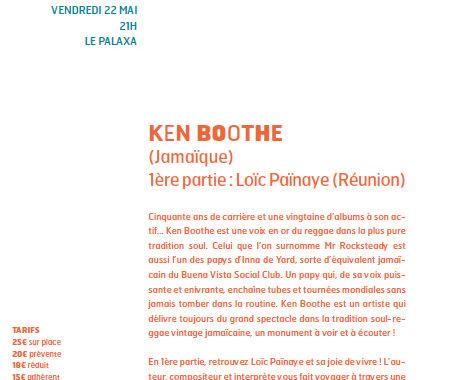 Annulation du concert de Loïc Païnaye - Ken Booth à la Cité des arts